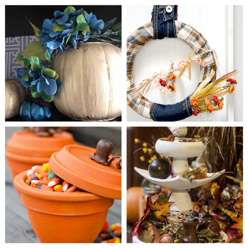 12 Creative Fall DIY Projects- These creative fall upcycle projects use up materials you would normally throw away. They're a creative way to add charm to any space! | fall decorating on a budget, repurposing, repurposed DIY décor, recycled décor, #fallDIY #diyProjects #fallDecor #upcycle #ACultivatedNest