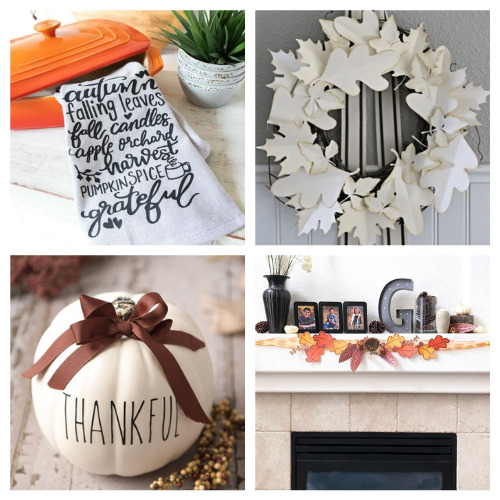 20 Clever Cricut Autumn DIYs- Get inspired by these 20 clever fall Cricut crafts! There are so many great cutting machine DIYs that are festive and perfect for autumn! | #Cricut #CricutCrafts #CricutDIYs #diyProjects #ACultivatedNest