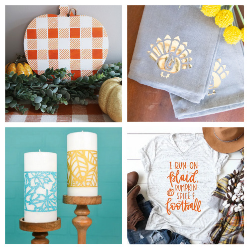 20 Clever Cricut Autumn Crafts- Get inspired by these 20 clever fall Cricut crafts! There are so many great cutting machine DIYs that are festive and perfect for autumn! | #Cricut #CricutCrafts #CricutDIYs #diyProjects #ACultivatedNest