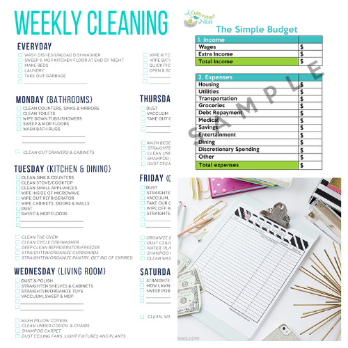 20 Helpful Free Homemaking Printables- These 20 helpful free homemaking printables are just what you need to keep your home and life in order. They're easy to follow and so useful! | budgeting, meal planning, cleaning tips, home binder printable pages, mom binder printables #freePrintables #printable #homemaking #housekeeping #ACultivatedNest