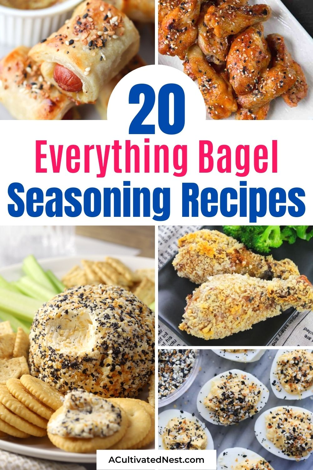 20 Everything Bagel Seasoning Recipes- For a quick and easy way to add flavor to any recipe, you should try everything bagel seasoning! These tasty everything bagel seasoning recipes are so flavorful, and easy to make, too!   #seasoning #everythingBagelSeasoning #recipeIdeas #appetizers #ACultivatedNest