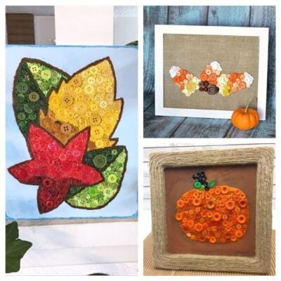 16 Fun Fall Button Crafts For Kids