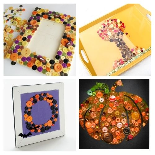 16 Fun Fall Button Activities For Kids- Keep your kids busy this fall with these fun fall button crafts for kids! There are so many fun DIY button projects they can do! | Halloween kids crafts, Thanksgiving kids crafts, #kidsCrafts #buttonCraft #kidsActivities #fallCrafts #ACultivatedNest