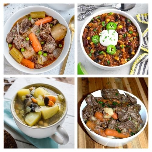 20 Hearty Fall Stew Recipes- Curl up in your favorite chair with one of these hearty stews for cold weather, and you'll be warm and happy on any cold day! | fall stew recipe, winter stew recipe, slow cooker stew recipe, Crock-Pot stew recipe #stew #recipe #food #slowCookerRecipes #ACultivatedNest