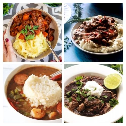 20 Hearty Winter Stew Recipes- Curl up in your favorite chair with one of these hearty stews for cold weather, and you'll be warm and happy on any cold day! | fall stew recipe, winter stew recipe, slow cooker stew recipe, Crock-Pot stew recipe #stew #recipe #food #slowCookerRecipes #ACultivatedNest