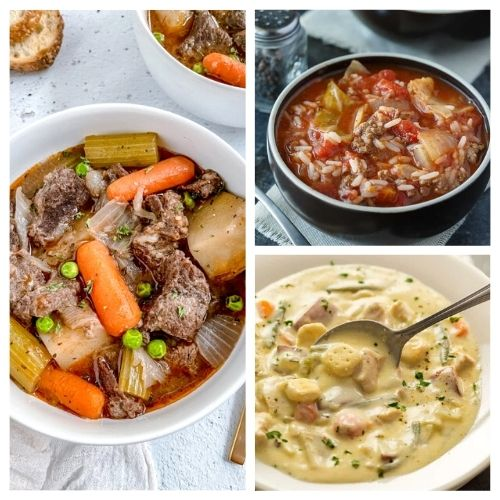 20 Hearty Stews for Cold Weather- Curl up in your favorite chair with one of these hearty stews for cold weather, and you'll be warm and happy on any cold day! | fall stew recipe, winter stew recipe, slow cooker stew recipe, Crock-Pot stew recipe #stew #recipe #food #slowCookerRecipes #ACultivatedNest