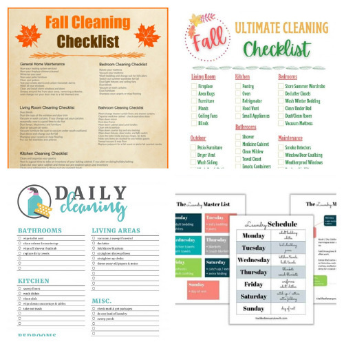 16 Fall Cleaning and Decluttering Free Printables- If you want to get your home neat and tidy for fall, then you need these free printable cleaning and decluttering checklists for fall! There are so many handy ones to choose from! | #cleaningChecklists #decluttering #freePrintables #homeOrganization #ACultivatedNest