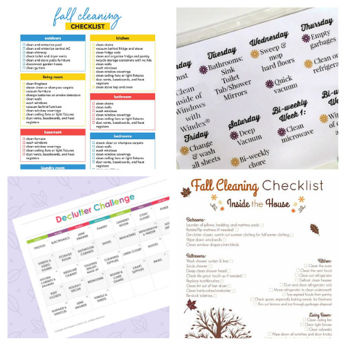16 Fall Decluttering and Cleaning Free Printables- If you want to get your home neat and tidy for fall, then you need these free printable cleaning and decluttering checklists for fall! There are so many handy ones to choose from! | #cleaningChecklists #decluttering #freePrintables #homeOrganization #ACultivatedNest