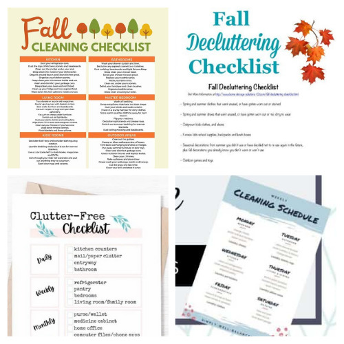 16 Autumn Decluttering and Cleaning Checklists- If you want to get your home neat and tidy for fall, then you need these free printable cleaning and decluttering checklists for fall! There are so many handy ones to choose from! | #cleaningChecklists #decluttering #freePrintables #homeOrganization #ACultivatedNest