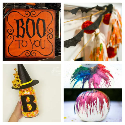 20 Budget-Friendly Halloween DIY Decor- Get your home ready for Halloween on a budget with these fun and frugal Halloween DIY decorations! There is so much fun décor you can make! | #Halloween #DIY #diyProjects #HalloweenDecor #ACultivatedNest