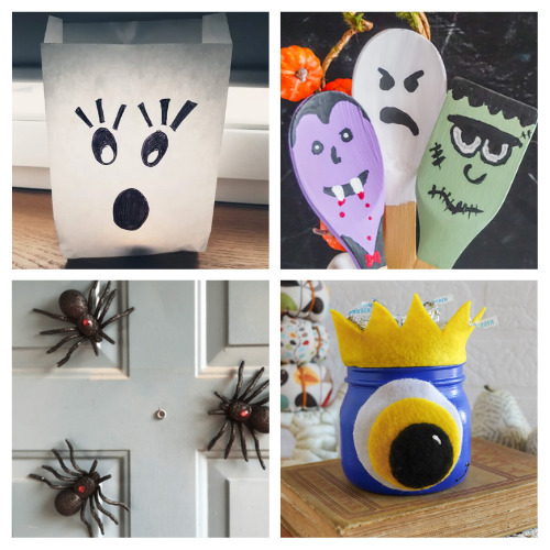 20 Budget-Friendly Halloween Crafts- Get your home ready for Halloween on a budget with these fun and frugal Halloween DIY decorations! There is so much fun décor you can make! | #Halloween #DIY #diyProjects #HalloweenDecor #ACultivatedNest