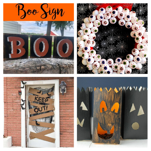 20 Outdoor Halloween Decoration DIY Projects- Decorate your yard for Halloween on a budget with these 20 DIY outdoor Halloween decorations! There are so many spooky and fun ideas! | #Halloween #HalloweenDIY #HalloweenDecorations #DIY #ACultivatedNest