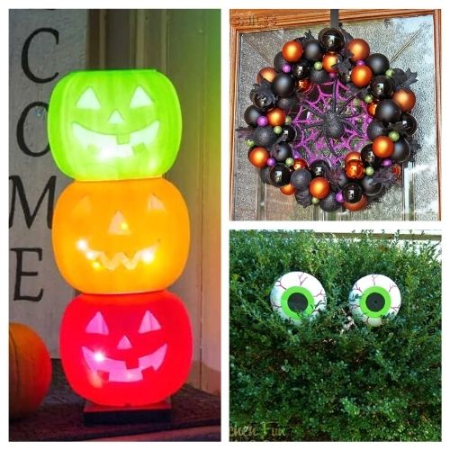 20 DIY Outdoor Halloween Decorations- Decorate your yard for Halloween on a budget with these 20 DIY outdoor Halloween decorations! There are so many spooky and fun ideas! | #Halloween #HalloweenDIY #HalloweenDecorations #DIY #ACultivatedNest