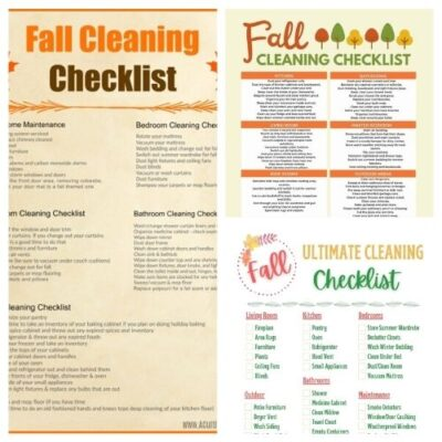 16 Fall Cleaning and Decluttering Free Printables