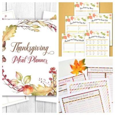 20 Free Thanksgiving Planner Printables
