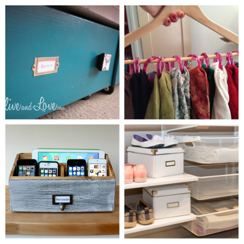 20 Genius Bedroom Organization Ideas- If you have a hard time organizing your room, you'll love these genius bedroom organizing hacks! There are so many clever organizing tips you can use! | #organizingTips #organizingHacks #bedroomOrganization #organization #ACultivatedNest