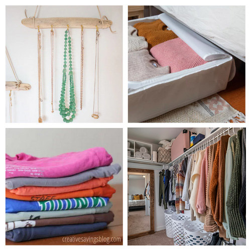 20 Genius Bedroom Organizing Hacks- If you have a hard time organizing your room, you'll love these genius bedroom organizing hacks! There are so many clever organizing tips you can use! | #organizingTips #organizingHacks #bedroomOrganization #organization #ACultivatedNest