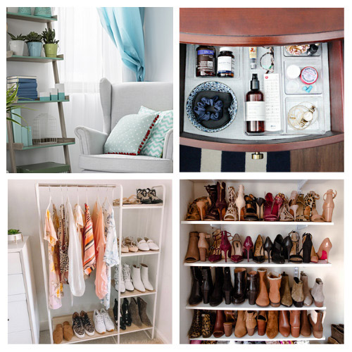 20 Genius Bedroom Organizing Tips- If you have a hard time organizing your room, you'll love these genius bedroom organizing hacks! There are so many clever organizing tips you can use! | #organizingTips #organizingHacks #bedroomOrganization #organization #ACultivatedNest