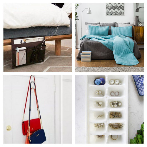20 Genius Bedroom Organizing Ideas- If you have a hard time organizing your room, you'll love these genius bedroom organizing hacks! There are so many clever organizing tips you can use! | #organizingTips #organizingHacks #bedroomOrganization #organization #ACultivatedNest